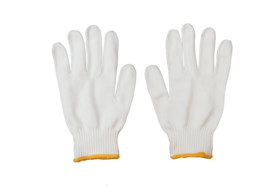 Working Glove Gardening Machines 400g 600g Cotton Gloves Packing With Woven Bag
